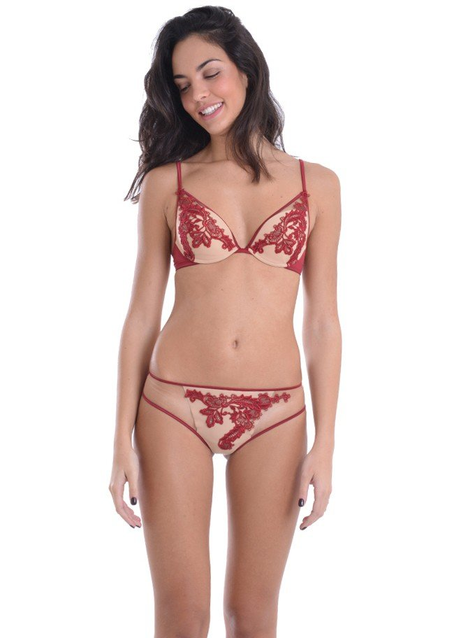 ef072860016 Coordinated With Burgundy Lace AMBRA LINGERIE F0206A-F1209 ...