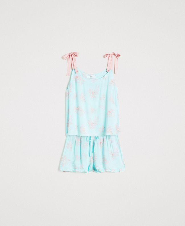 Twinset Floral jacquard short pyjamas 191LL2FCC