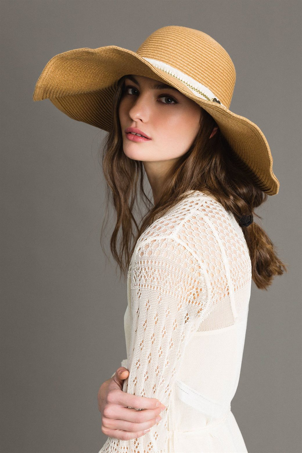 Wide brim straw hat TWIN SET 191LM4ZQQ