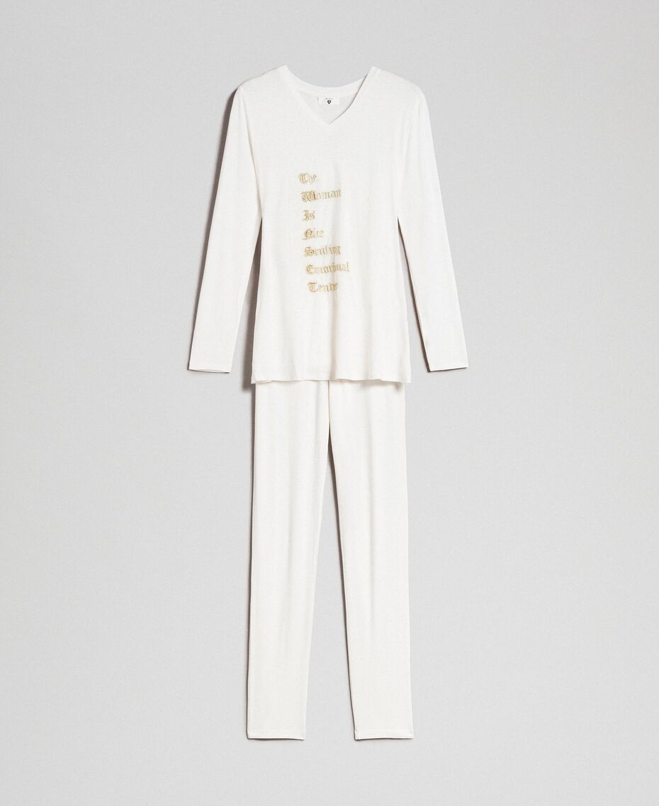 Twinset pyjamas with tulle embroideries 192LL2CKK