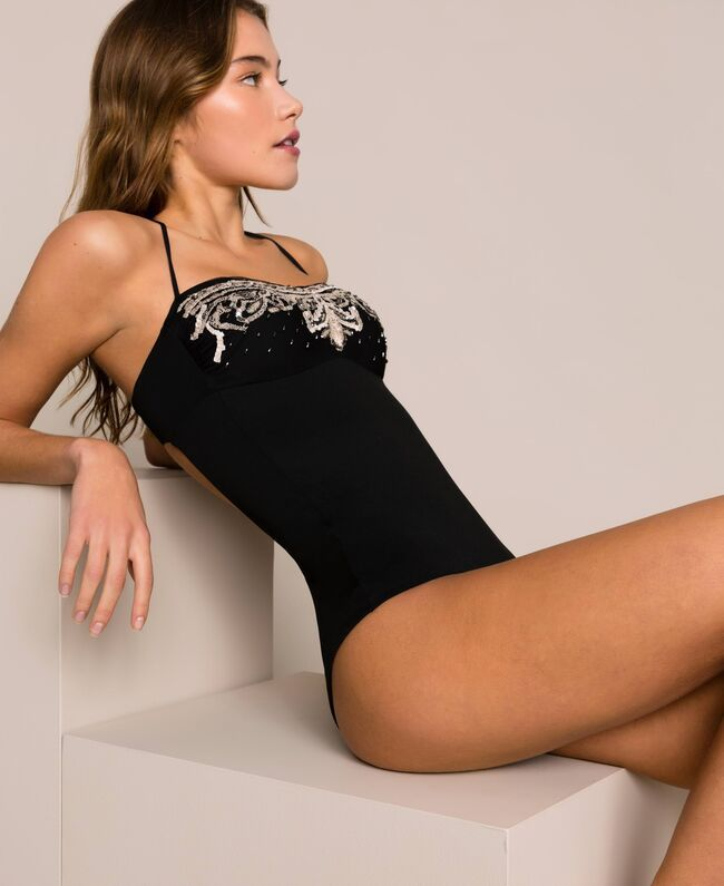 Twinset one-piece swimsuit with embroidery 201LBM5ZZ