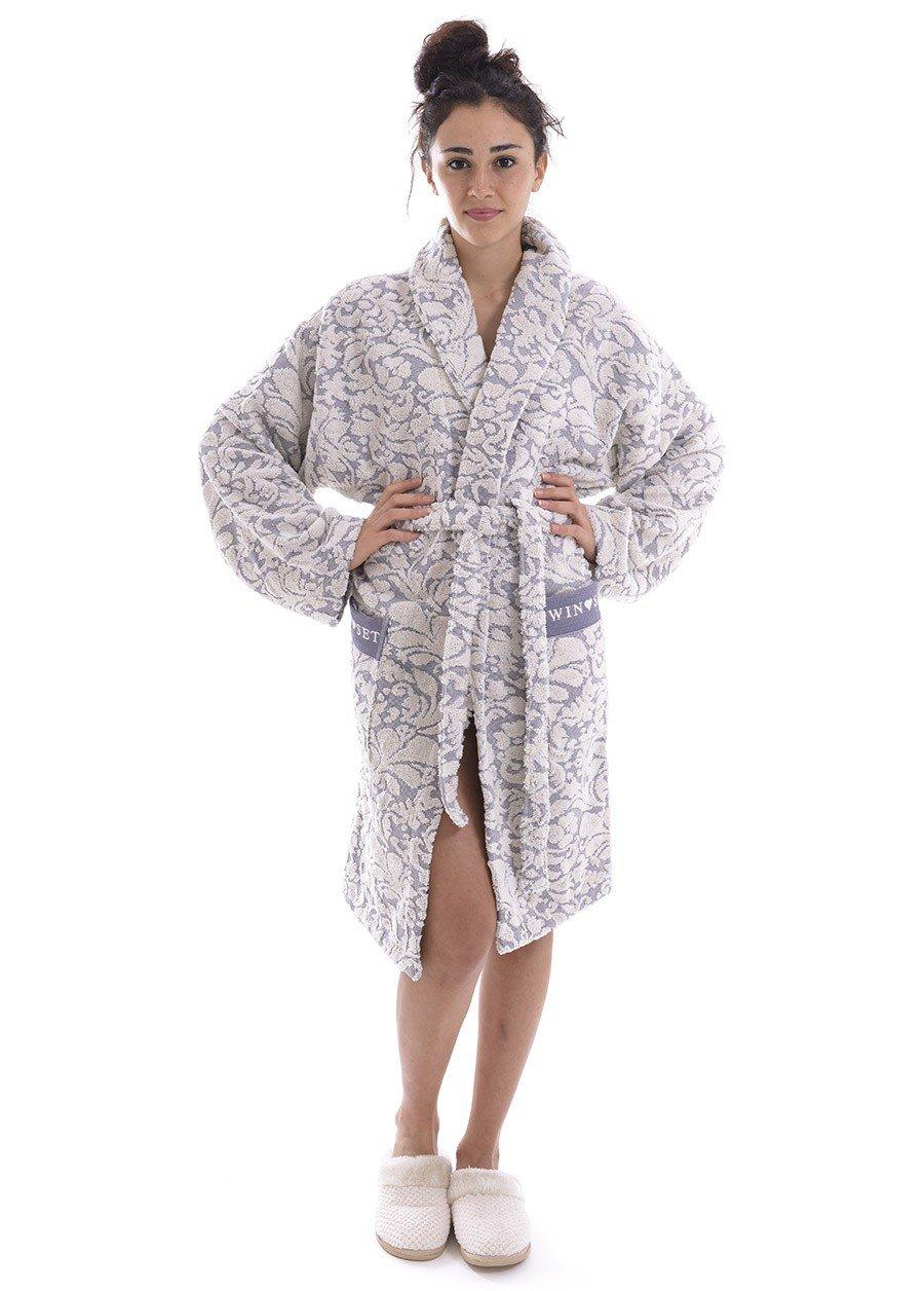 TWIN-SET melange grey robe LINGERIE LA5ZWW
