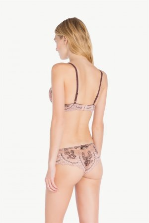 TWO-TONE LACE BRAZILIAN BRIEFS TWIN-SET LA7M77