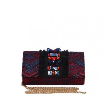 Clutch bag with applications  NENETTE 25BB-UMA