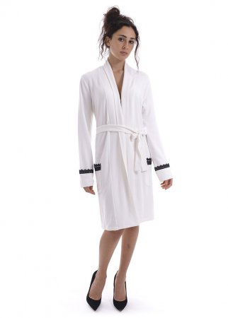TWIN-SET ivory LINGERIE robe LA6RAA