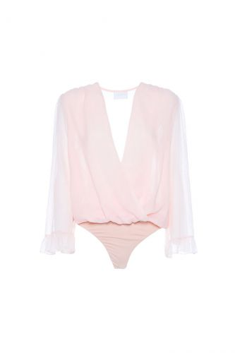 NENETTE Foliesi ruffled bodysuit shirt