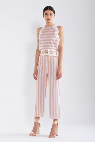 NENETTE Modino ruffled striped top