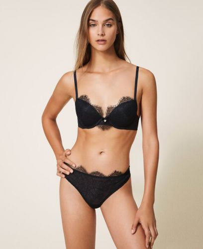 TWINSET Lace and tulle push-up bra