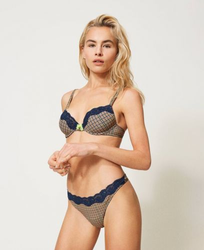 Push-up stampa check TWINSET