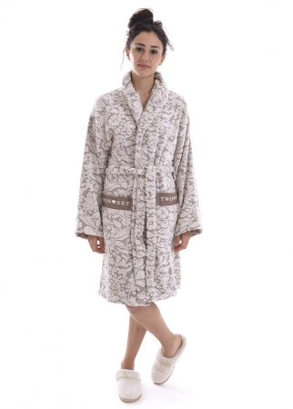 TWIN-SET melange oats LA5WW LINGERIE robe