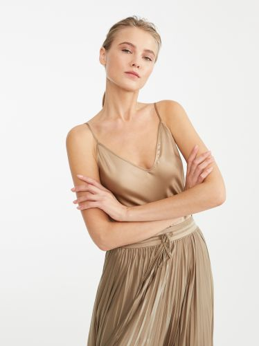 MAX MARA camel silk top