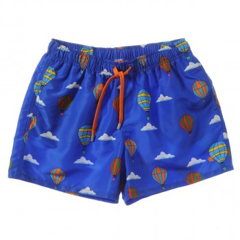 Boxer ROOSTER print balloons COBALT