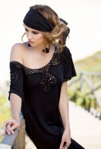 Black dress MARJOLAINE 6ALL0501