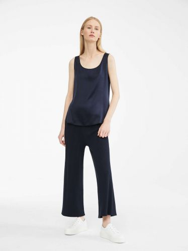 MAX MARA silk blu top