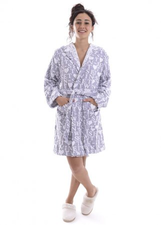 TWIN-SET melange grey robe LINGERIE LA5ZVV