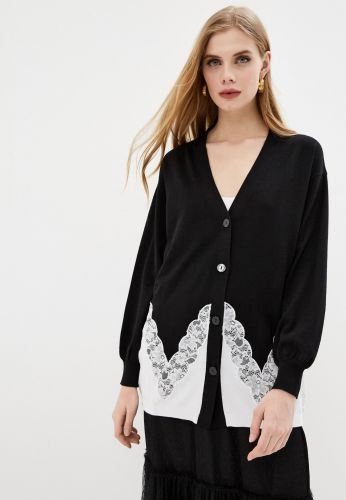 TWINSET black lace cardigan