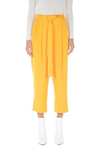 ANNARITA N yellow trousers A120PO055