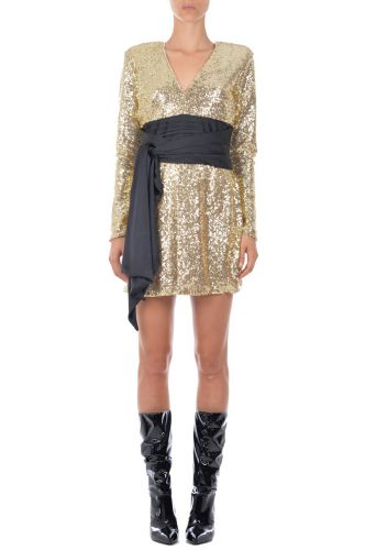 Gold dress paillettes  AnnaritaN I18573JL028