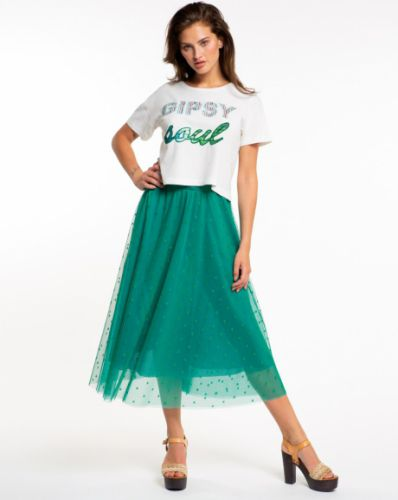 PEPITA green tulle skirt