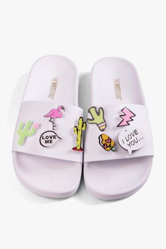 Slipper PIN CACTUS WHITE